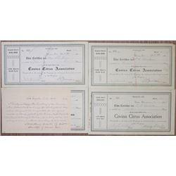 Covina Citrus Association 1902 Stock Certificate Quartet