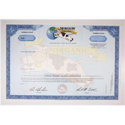 Horizon Organic Holding Corp., 1997 Specimen Stock Certificate