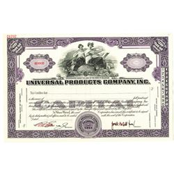 Universal Products Co., Inc., 1914 Specimen Stock Certificate