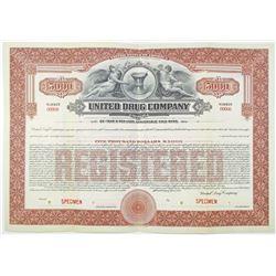 United Drug Co. 1921 Specimen Bond
