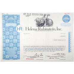 Helena Rubinstein, Inc. 1971 Specimen Stock Certificate