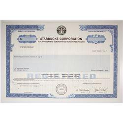 Starbucks Corp. 1995 Specimen Bond