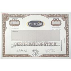 Netflix.com, Inc. 2000 Specimen Stock Certificate - Pre IPO Issue.