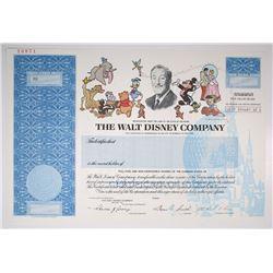 Walt Disney Co. 1993 Specimen Stock Certificate