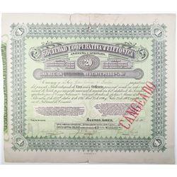 Sociedad Cooperative Telefonica 1921 I/C Stock Certificate