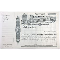 Australian Mortgage Land & Finance Co. Ltd. 1907 Specimen Stock Certificate