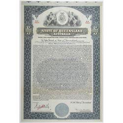 State of Queensland 1921 Specimen Bond Rarity