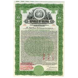 Republic of Bolivia, 1922 Issued Bond
