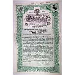 United States of Brazil 5% 40 year Funding Bonds of 1931 Specimen Bond