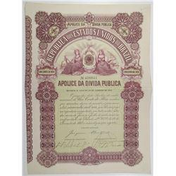 Republica dos Estados Unidos do Brazil 1902 I/U Stock Certificate