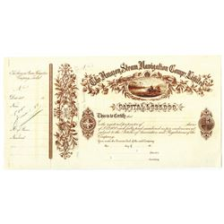 Amazon Steam Navigation Co. Ltd., 1888 Specimen Stock Certificate
