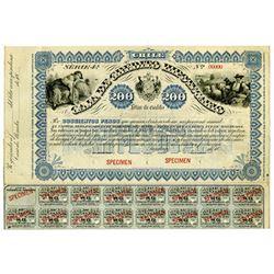 Caja de Credito Hipotecario, ca.1880-1899 Specimen Bond