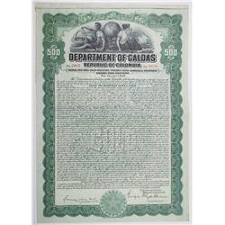 Department of Caldas, Republic of Colombia 1926 I/U Gold Bond