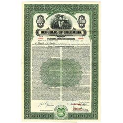 Republic of Colombia, 1940 Specimen Bond