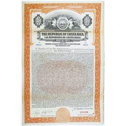 Republic of Costa Rica, 1926 Specimen Bond