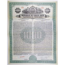 Republica de Costa Rica, 1927 Specimen Bond