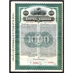 Central Cunagua, 1917 Cuba Sugar Plantation and Mill Specimen Bond