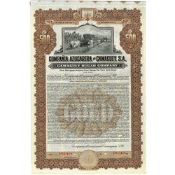 Compania Azucarera de Camaguey, S.A., 1922 Specimen Bond