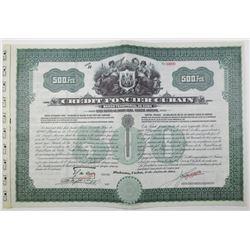 Credit Foncier Cubain 1914 Specimen Bond