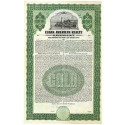 Cuba American Realty Co. 1927 Specimen Bond