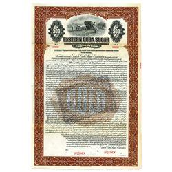 Eastern Cuba Sugar Corp., 1922 Specimen Bond