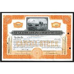 Punta Alegre Sugar Company, 1920 I/U Share Certificate
