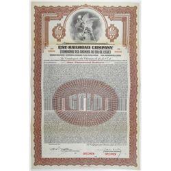 Est Railroad Co. 1924 Specimen Bond Rarity