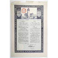 City of Darmstadt, 1922 Issued Bond