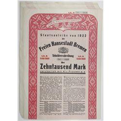 Freien Hansestadt Bremen 1922 Bond Group