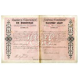 Honduras Government 1867 I/U Railway Loan Bond