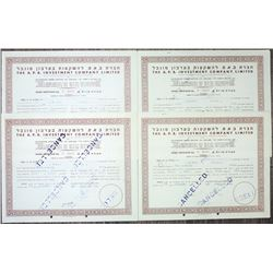 A.P.B. Investment Co., Ltd 1951 Stock Certificate