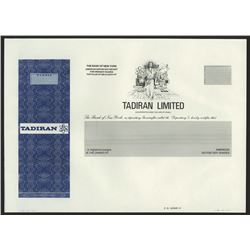 Tadiran Ltd., 1970-80's Progress Proof Stock Certificate