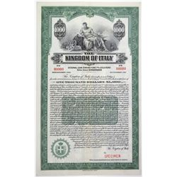 Kingdom of Italy 1925 Specimen Bond