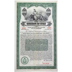 Kingdom of Italy 1925 Specimen Bond