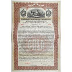 Lombard Electric Co. 1926 Specimen Bond