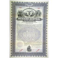Mexican Central Railway Co. Ltd. 1902 Specimen Bond