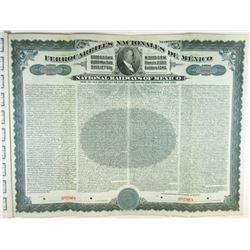 National Railways of Mexico, 1907 Specimen Bond