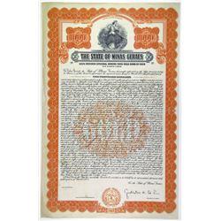 State of Minas Geraes 1928 Specimen-Proof Bond
