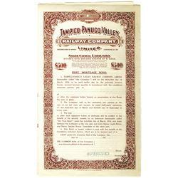 Tampico-Panuco Valley Railway Co. Ltd., 1910-1919 Specimen Bond Rarity