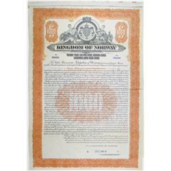 Kingdom of Norway 1923 Specimen Bond