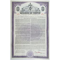 Kingdom of Norway 1958 Specimen Bond