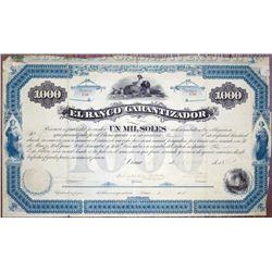 El Banco Garantizador, 1880 I/U Bond