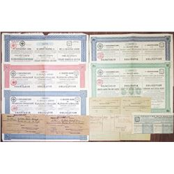 Russian Railroad Bonds, ca.1889-1897, Group of 5 I/U Bonds.