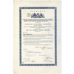 Tasmanian Government Debenture, 1867, I/C Bond.