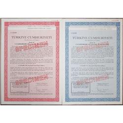 Republic of Turkey Specimen Bond Pair, 1990