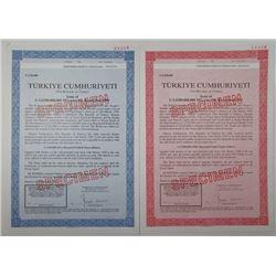 Republic of Turkey, 1990 Specimen Bond Pair