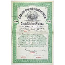 Estados Unidos de Venezuela, Deuda Nacional interna Consolidada, 1920 Specimen Bond
