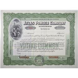 Atlas Powder Co., 1912 Specimen Stock Certificate