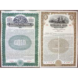 Bethlehem Steel Co., 1912 and 1940 Specimen Bond Pair