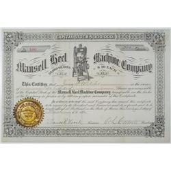 Mansell Hell Machine Co. 1885 Stock Certificate